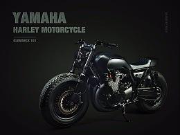 Harley Motorcycle 超写实绘制