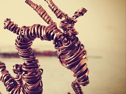 铜线缠绕的龙