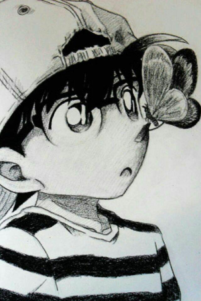 柯南铅笔画图片