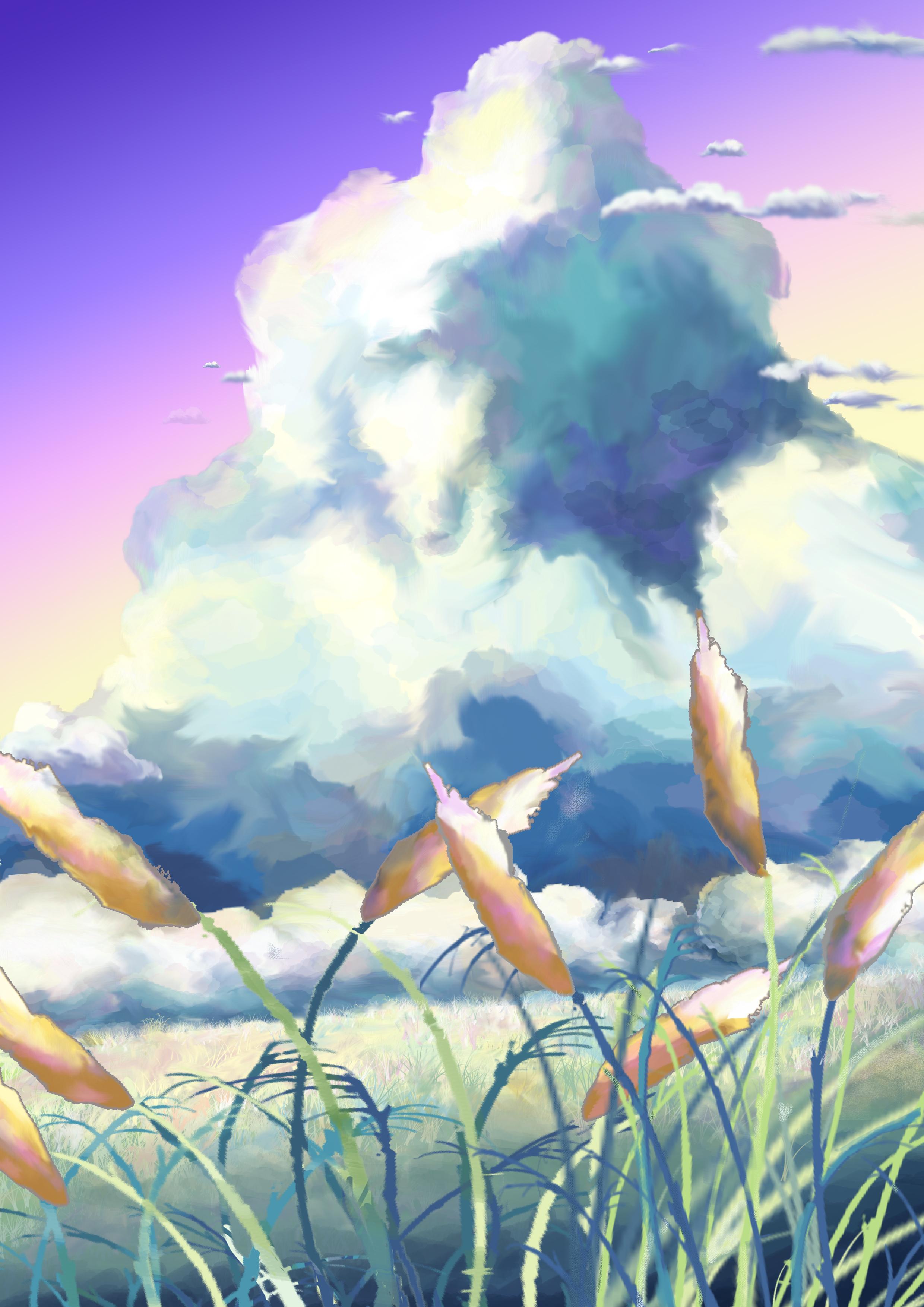 第一次用手绘板画的一个动画场景~也是第一次用电脑画画