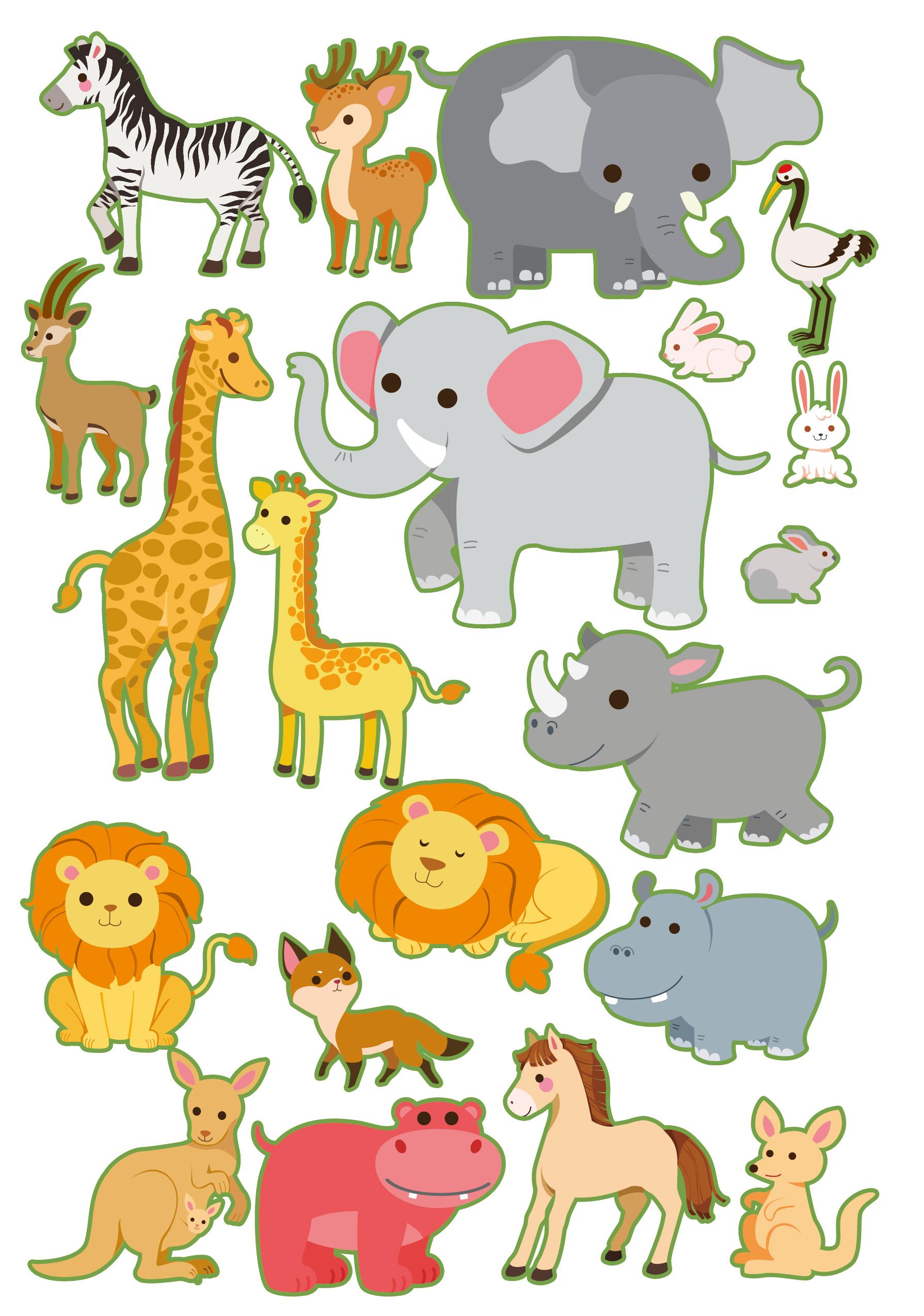 很多动物卡通图