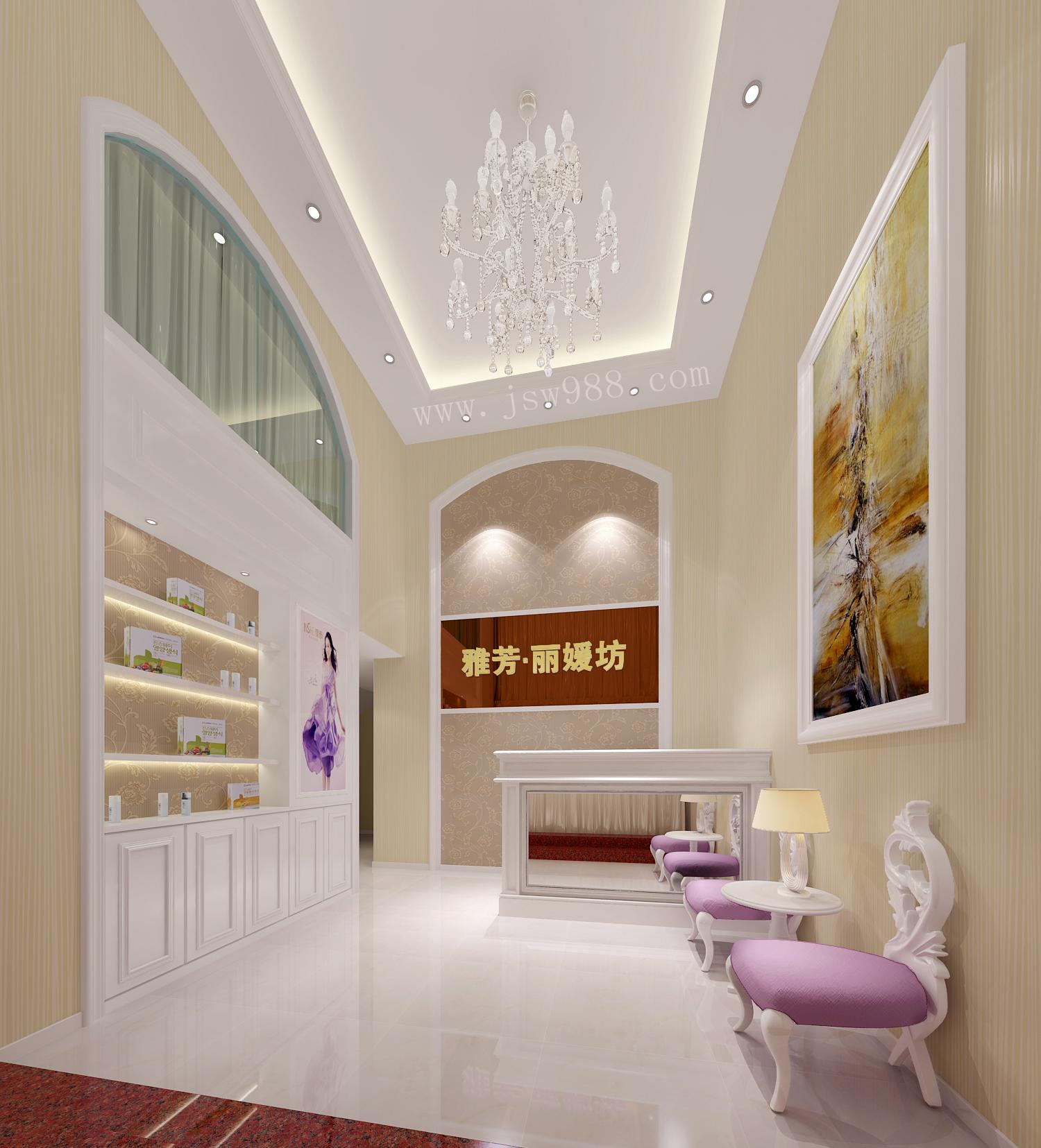 廣州雅芳麗媛美容院大廳裝修設計效果圖圖片