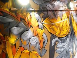 上海StudioX舞蹈工作室商业涂鸦