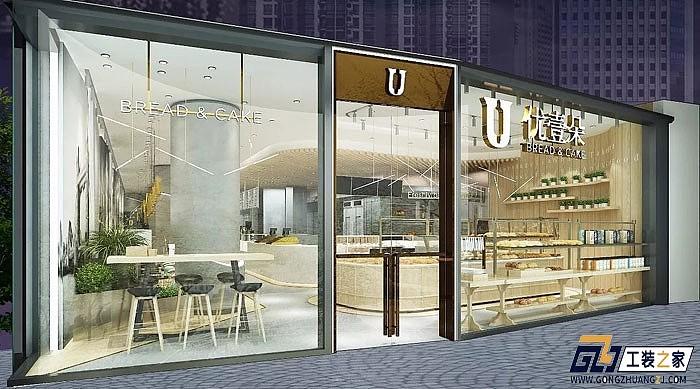 西安工装设计图_西安时尚面包店装修设计图|空间|室内设计|工装之家装修网 ...