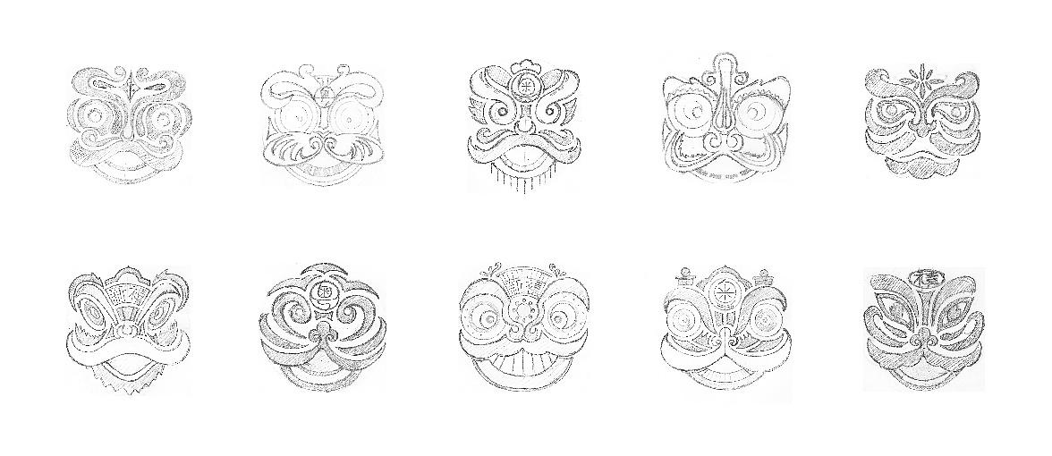 设计师的舞狮手稿.图片