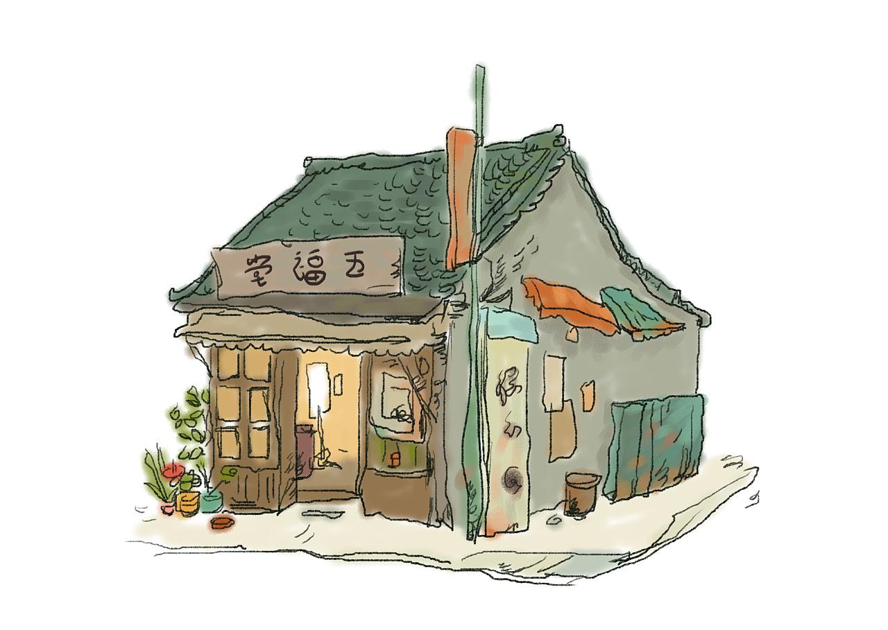 手绘房子设计图平面图