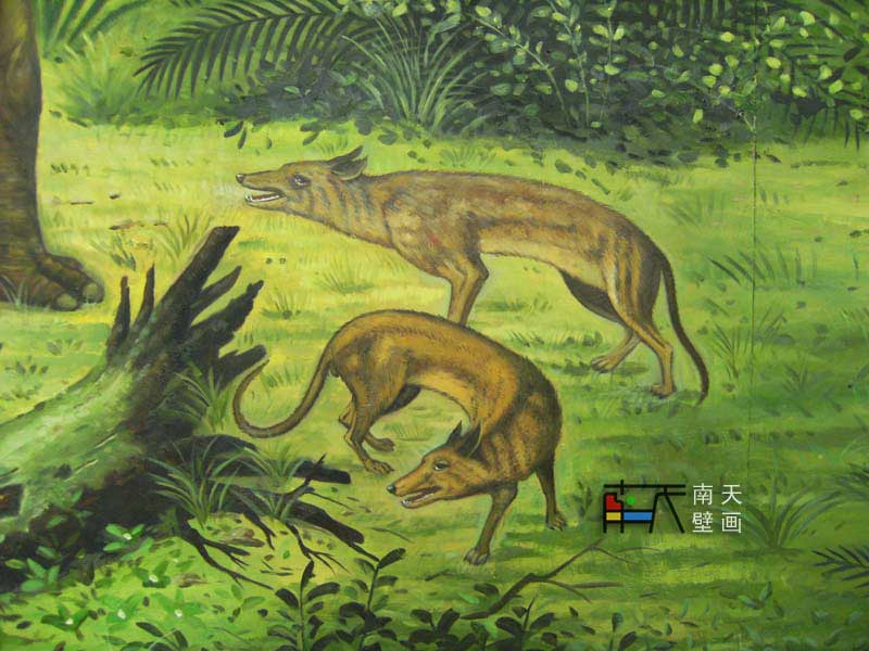 南天壁画出品:内蒙博物馆-原始动物壁画,手绘油画,欧式油画,欧式壁画