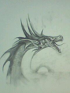 龙 素描 绘画 铅笔画