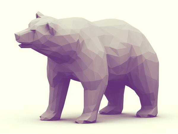 原创作品:3d 动物折纸效果 水云居