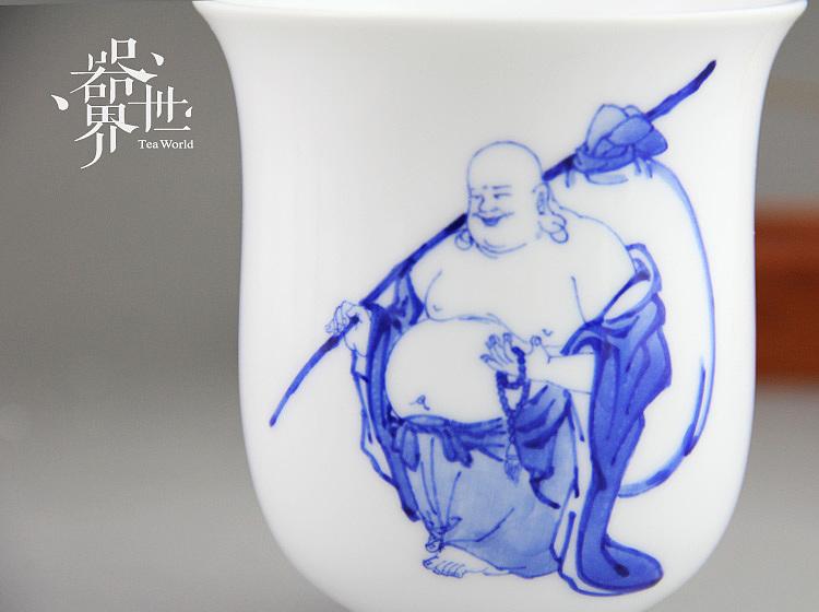 器世界 原创手绘 精品青花瓷茶具 青花---- 人生仿佛初见