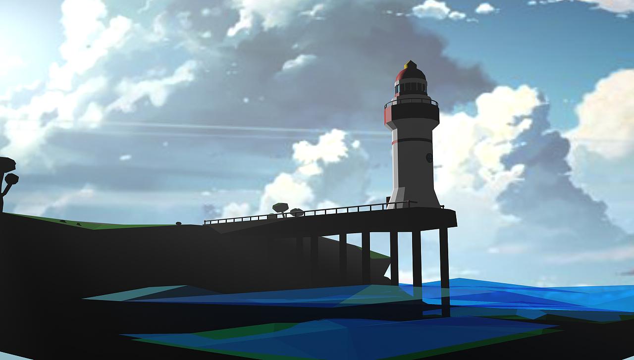 [c4d]海边灯塔小作