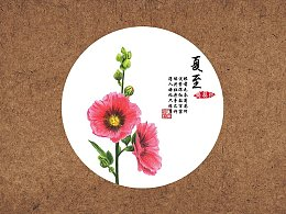 【驴大萌彩铅教程230】24节气花卉手绘图鉴—夏至蜀葵花