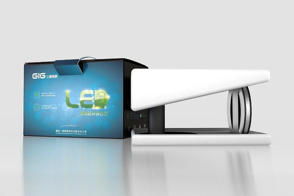 三极多功能台灯 整体推广项目图片