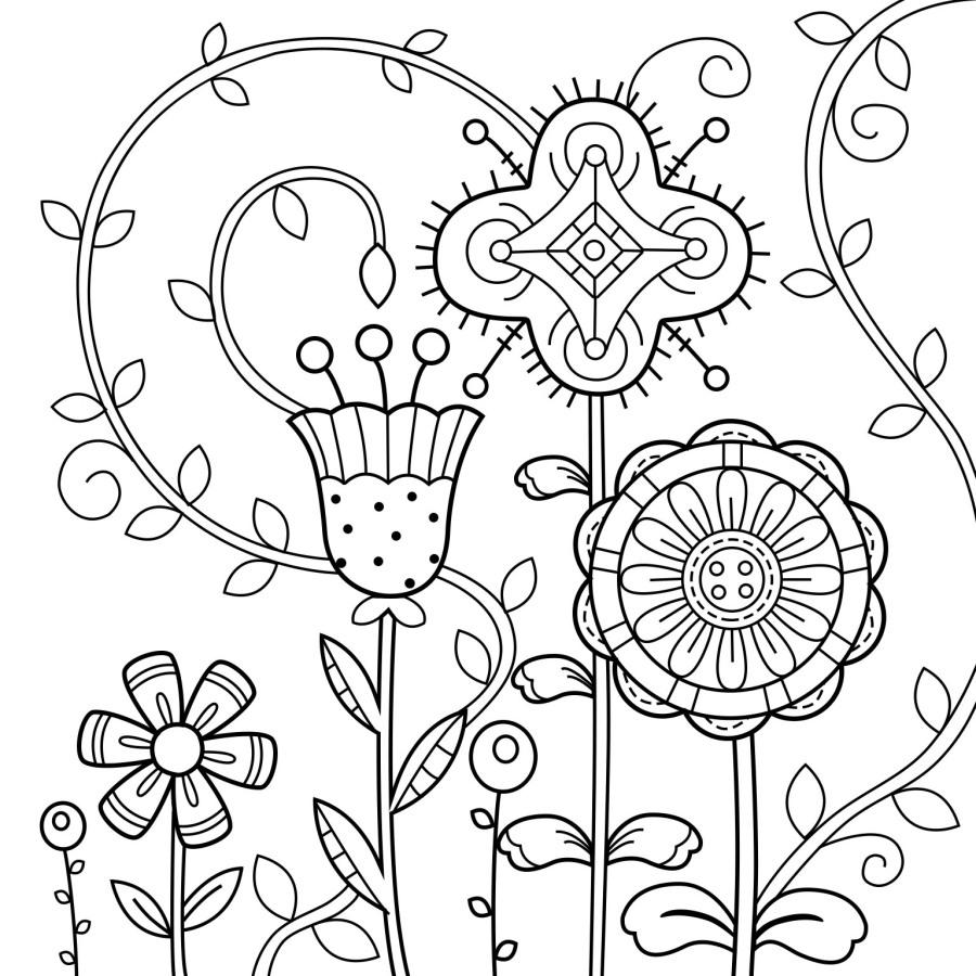 线描 不对称的花朵|图形/图案|平面|一oo一 - 原图片