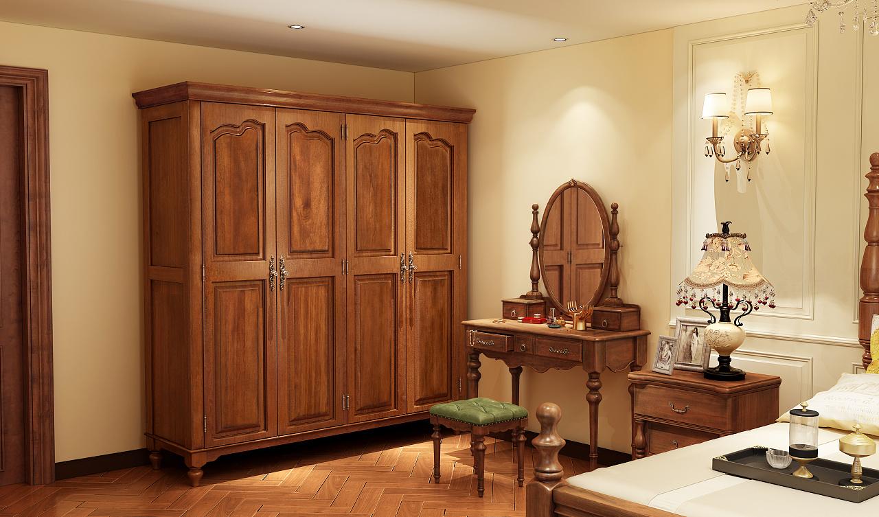 美式乡村风格家具设计,家具3d效果图制作图片