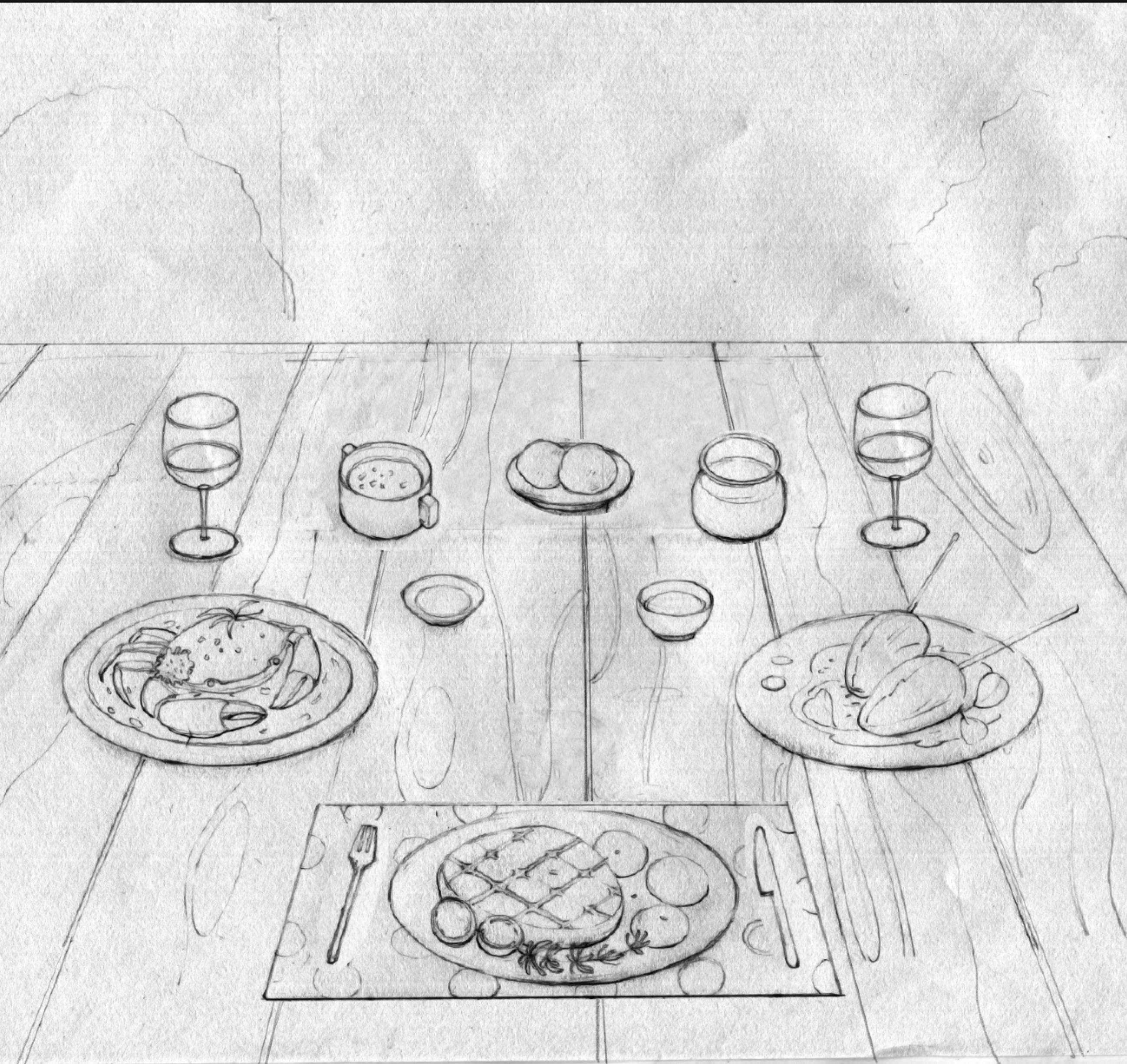 早餐简笔画图片大全