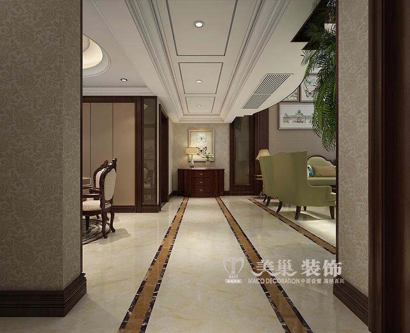 郑州紫园230平叠加别墅欧式风格装修效果图---走廊图片