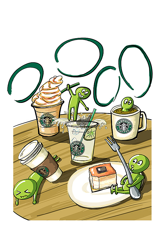星巴克咖啡宣传课题海报
