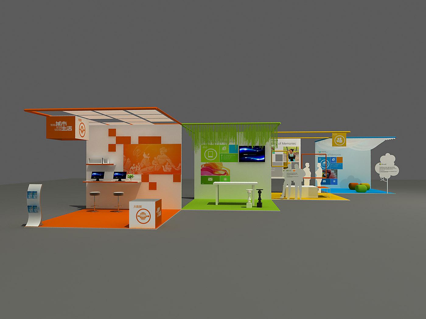 展览展示作品 概念稿|空间|展示设计 |linanxious图片