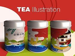 茶叶包装插画