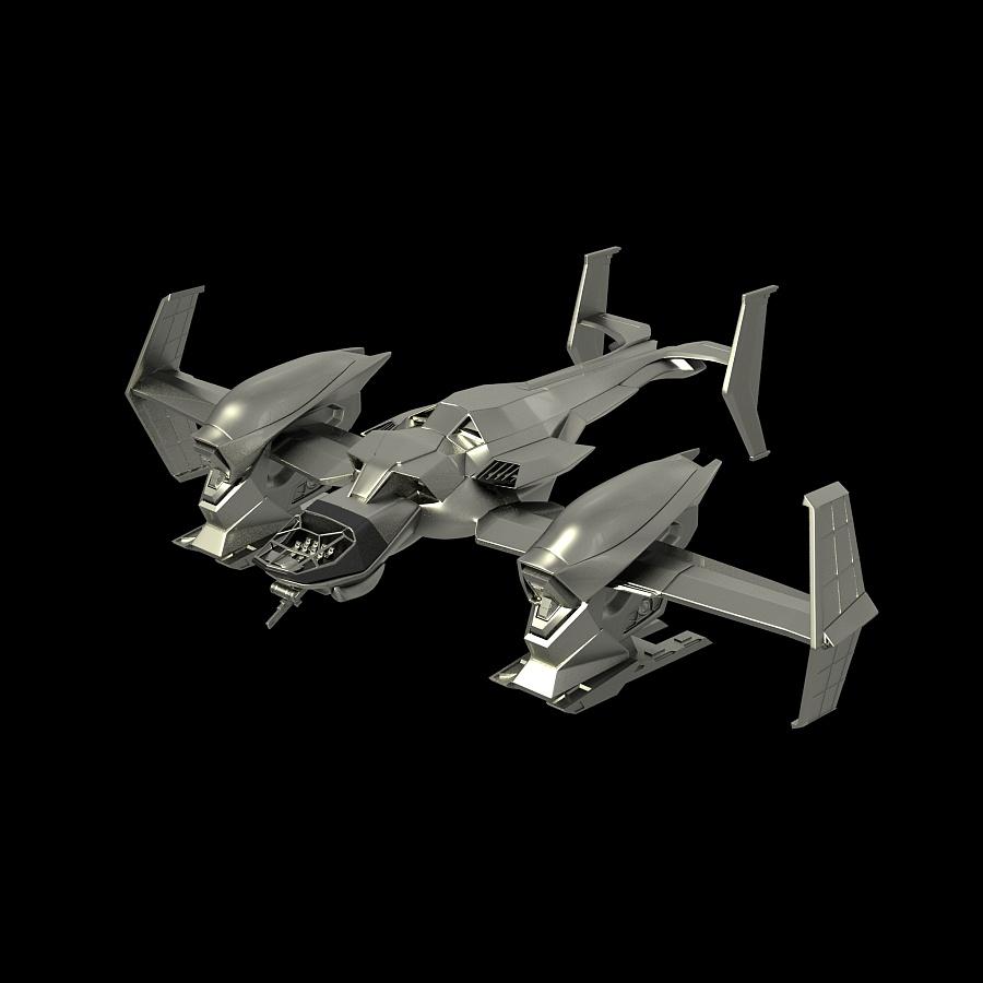 maya道具建模——未来科技飞船|机械/交通|三维|yhy