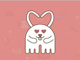 丨小练习丨微信表情包设计——难得兔