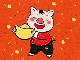 中国风猪年春节红包系列