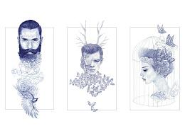 圆珠笔插画《梦一场系列》