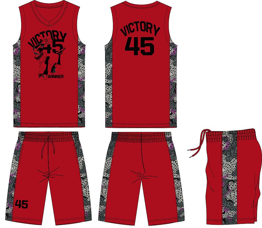 简单篮球服设计图