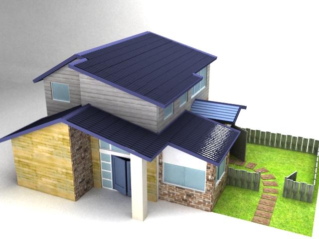 房子模型-vr简单渲染|三维|场景|younglight - 原创
