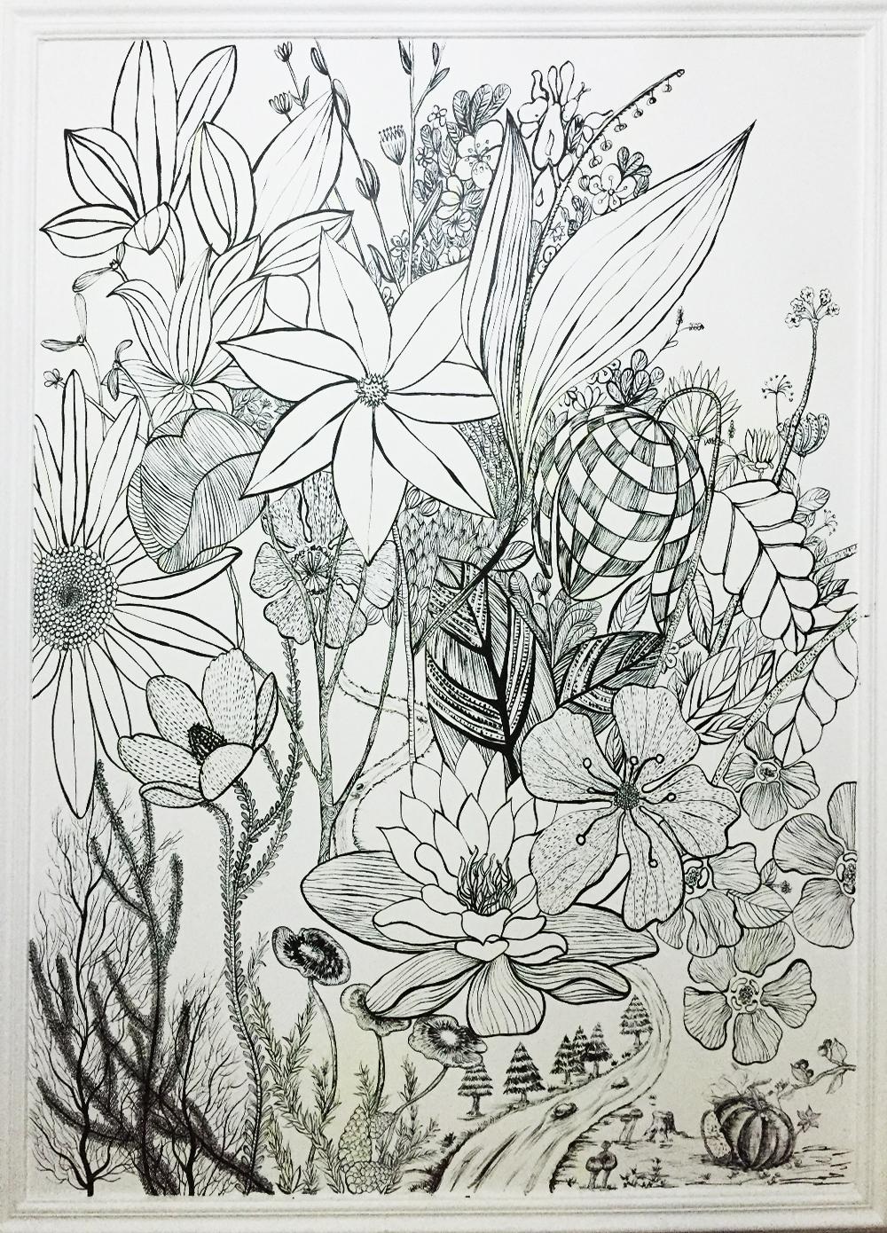 手绘线条|插画|插画习作|queenazhu - 原创作品