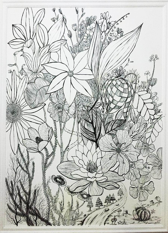 手绘线条|插画习作|插画|queenazhu - 原创设计作品