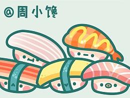 周小馋AI萌漫 寿司来啦~