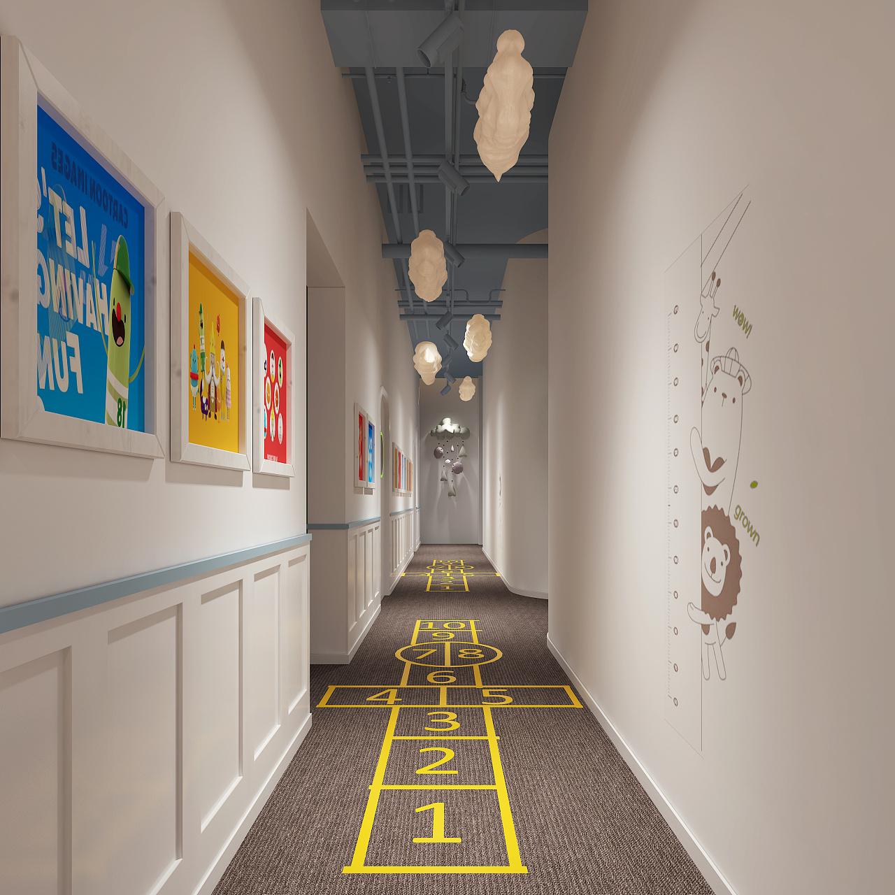 幼儿园教室_室内空间设计拉萨室内装修设计图片
