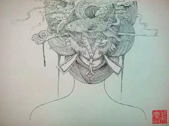「浮世绘风格」——手绘彩铅