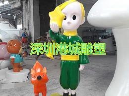动画片安徒生童话主题玻璃钢小王子狐狸雕塑定制哪家好