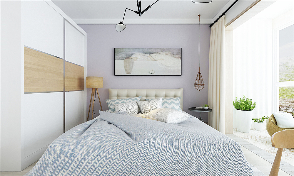郑州碧桂园100平三室两厅北欧风格案例装修效果图