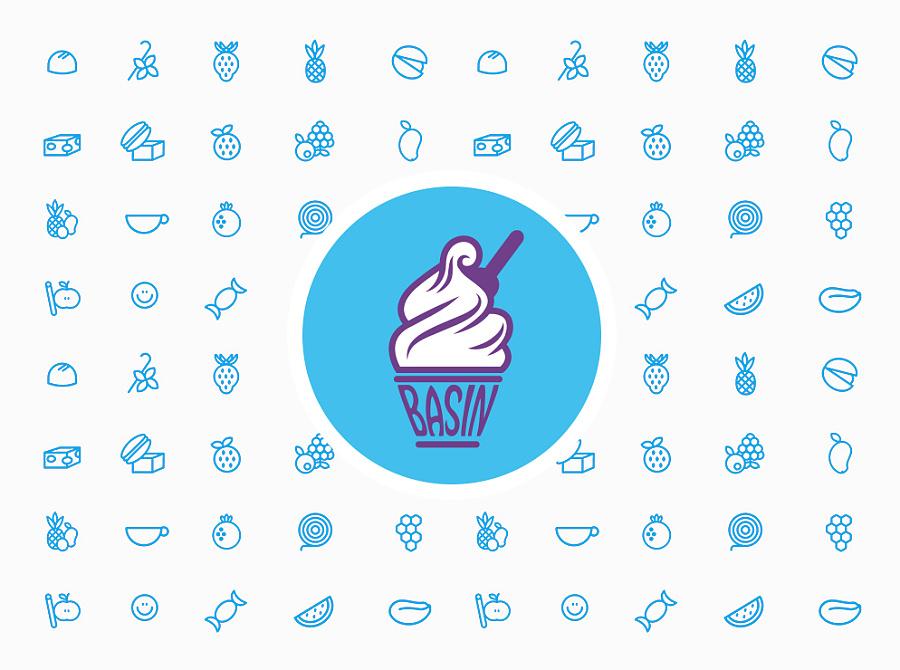 冰淇淋店logo设计|标志|平面|kuat - 原创设计作品图片