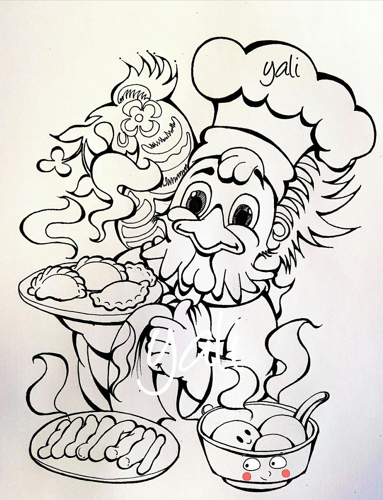 设计说明:本作品的灵感主要来自于鸡年的生肖文化内涵,春节传统图片