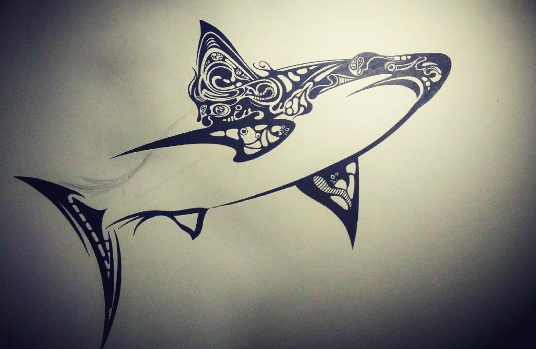 手绘 黑白 插画 鱼图片