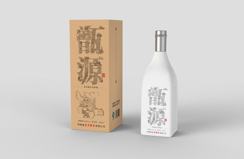 甑源白酒包装设计(已商用)图片
