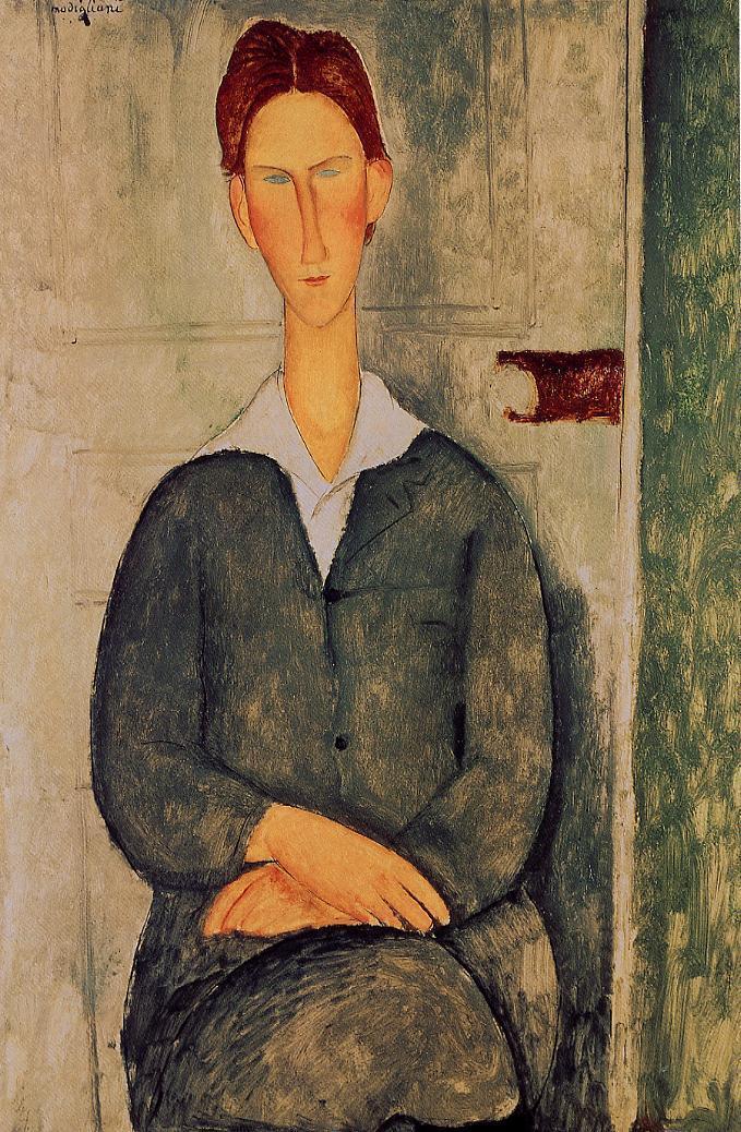 亚卅人体艺木_《仰卧的裸女》在莫迪利亚尼的人体艺术中,他将雕塑造型因素转移到
