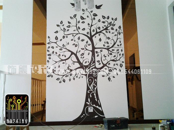 焦作墙绘,焦作手绘墙,幸福树.