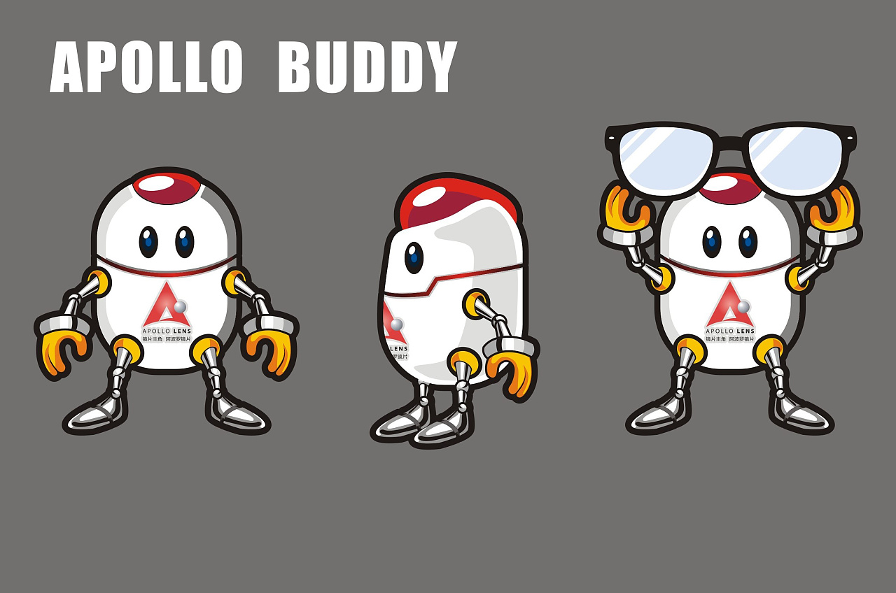 阿波罗镜片吉祥物 apollo buddy设计图片