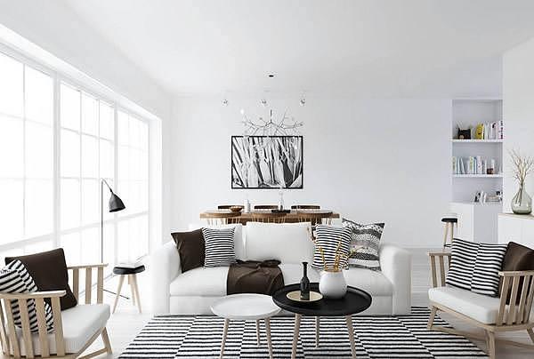 北欧案例装修设计图|风格|室内设计|zbjc-原创作品包装设计与空间心理图片