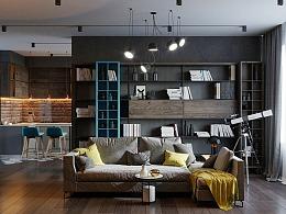 工业风中的新艺术 公寓设计