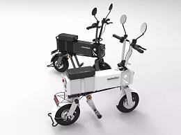 环保的绿色交通工具电动车设计