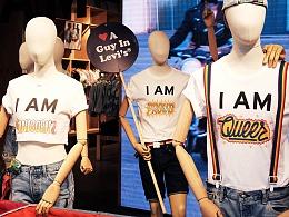 Justin Poulter为服饰品牌李维斯Levis设计T-Shirt新品