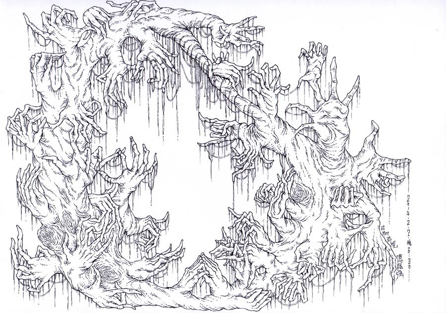 手和树木的异质同构图片