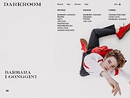 DARKROOM服装网页排版